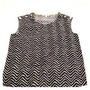 Ellen Tracy zig zag top small